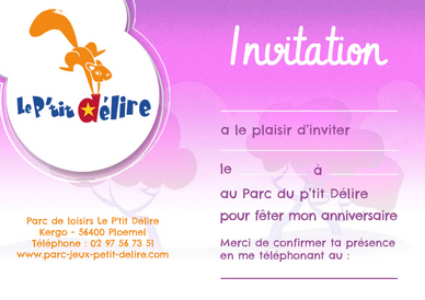 Anniversaire Parc d'Attraction Morbihan